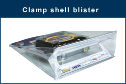 Clamp shell blister