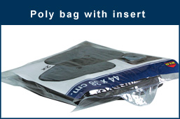 Poly bag with insert