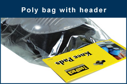 Poly bag with header